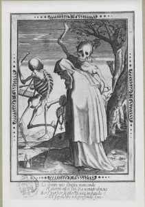Thomas de Leu, Vieillard et la mort, gravure au burin