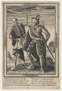L'homme et la mort, gravure au burin par Thomas de Leu
