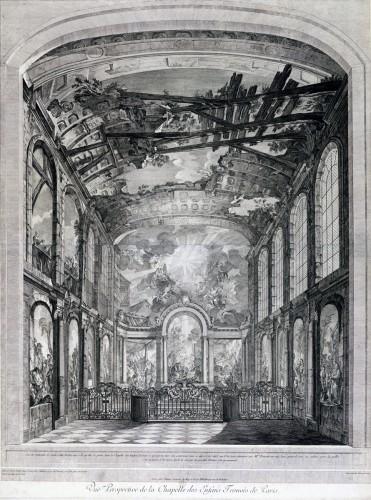 Vue de l'intérieur de la chapelle des Enfants-Trouvés par Fessard d'après Natoire