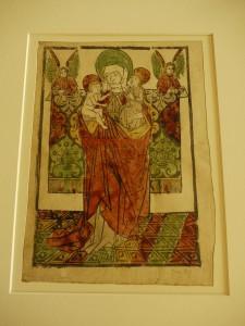 Gravure sur bois coloriée. Souabe? Vers 1470. BnF, Département des Estampes, Réserve Ea-5 (12)-Boîte écu