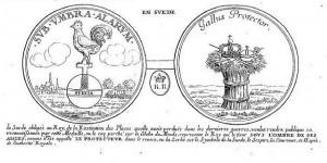 Médaille suédoise sur la protection du roi de France